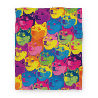 Pop Art Doge Blanket