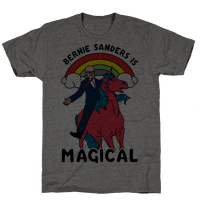 Bernie Sanders on a Magical Unicorn Tee