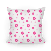 Pink and White Floral Tossed Pattern