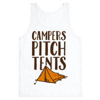 Campers Pitch Tents