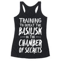 Training to Defeat the Basilisk in the Chamber of Secrets Racerback