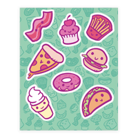 Cute Foods Sticker
