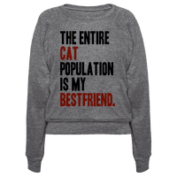 The Entire Cat Population Is My Best Friend Pullover