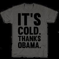 It's Cold. Thanks Obama.