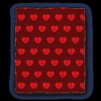 Butt Heart Blanket (Dark) Blanket
