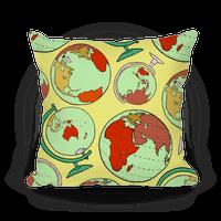 Wanderlust World Globe Pattern