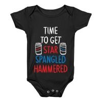 Time to get Star Spangled Hammered Red Juniors Soft Tank Top