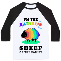 I'm The Rainbow Sheep Of The Family Baseball