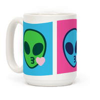 Blowing Kiss Alien Emojis Mug