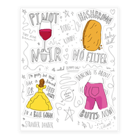 Kimmy Schmidt Illustrated Quote Sticker