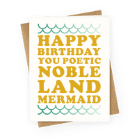 Happy Birthday You Poetic Noble Land Mermaid Greetingcard