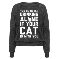 You're Never Drinking Alone If Your Cat Is With You