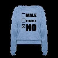 Male, Female, No