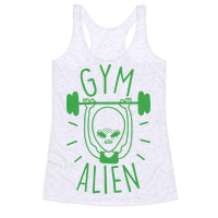 Gym Alien Lifting Racerback