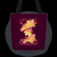 I Love Monster Boys Tote