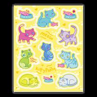 Cute Colorful Cat Sticker
