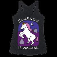 Halloween Is Magical Racerback