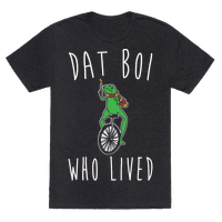Dat Boi Who Lived Parody White Print