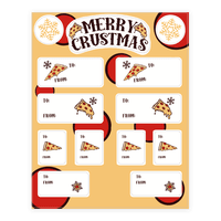 Merry Crustmas Gift Tags Sticker