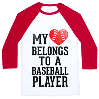 My Heart Belongs To A Baseball Player (Red Heart)