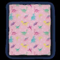 Cute Pastel Pixel Dinosaur Pattern
