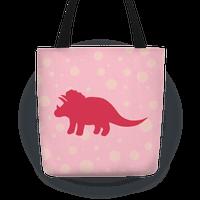 Pink Polkda Dot Triceratops