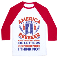 America and Beeeeer Have the Same Number of Letters