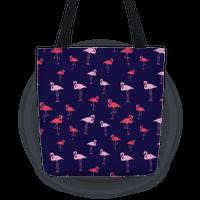 Flamingo Pattern (Navy)