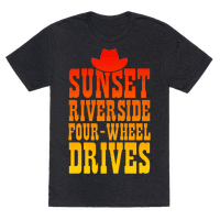 Sunset Riverside Four Wheel Drives