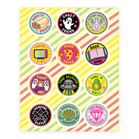 Pop Culture Merit Badge Sticker