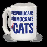 Republicans Democrats Cats Mug