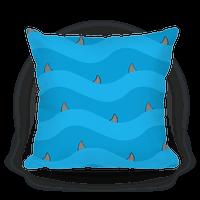 Blue Shark Fins Waves Pattern