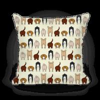Dog Butt Pattern Pillow