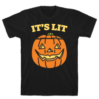 It's Lit Jack O' Lantern White Print