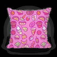 Cute Foods Pillow