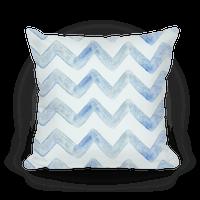 Blue Watercolor Chevron Pattern