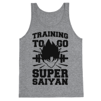 Training to Go Super Saiyan (black) Tank