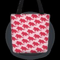 Pink Triceratops Pattern