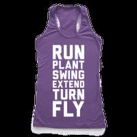 Run, Plant, Swing, Extend Turn Fly