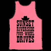 Sunset Riverside Four Wheel Drives