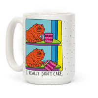 I Really Don't Care Cat Mug
