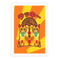 Lucky Cat Pop Art Poster