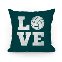 Love Volleyball Pillow