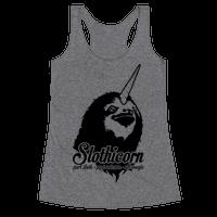 Slothicorn Part Unicorn Part Sloth All Magic Racerback