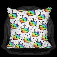Caticorn Pattern Pillow
