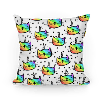 Caticorn Pattern Pillow