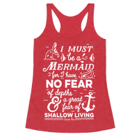 I Must Be A Mermaid Inspirational Quote