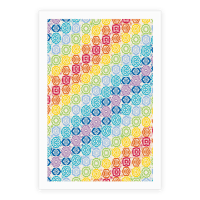 Watercolor Chakra Symbol Pattern
