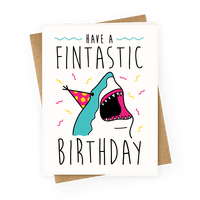 have a fintastic birthday  greeting cards  human, Birthday card