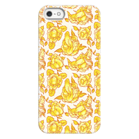 Floral Penis Pattern Yellow Phonecase